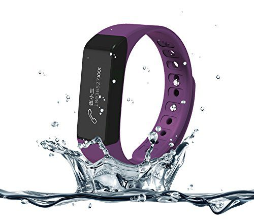 007plus T5 Plus Fitness Tracker Health Sleep Monitor Pedometer Activity Tracker Wristband (Purple)